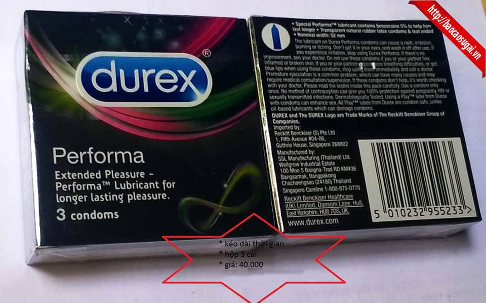 bao cao su Durex kéo dài thời gian quan hệ tình dục